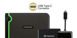 Transcend ed il kit di prodotti con USB Type-C