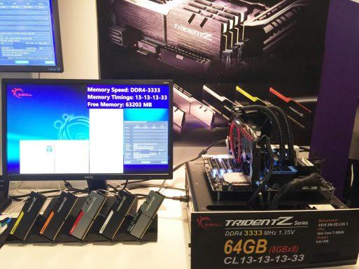 Trident Z DDR4-3333MHz CL13-13-13-33 64GB (8x8GB) 1.35V